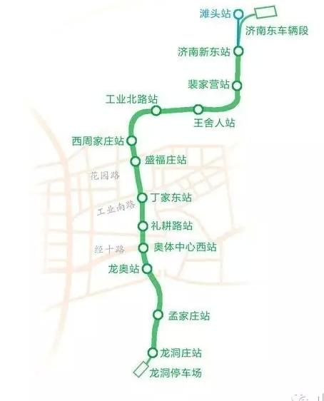 济南地铁最全站点,线路