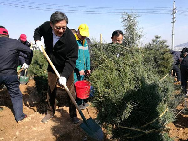 王文涛王忠林参加全民义务植树活动