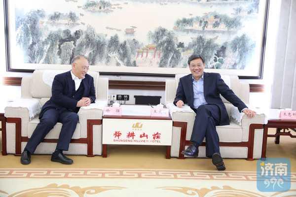 王文涛王忠林会见上海建工集团客人