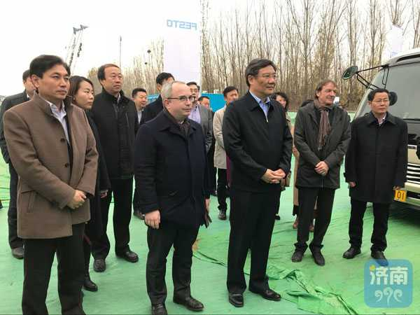 王文涛到费斯托集团全球生产中心项目调研