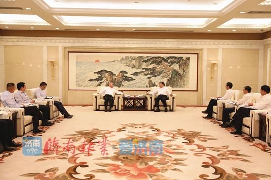 王忠林会见正威国际集团董事局主席王文银一行