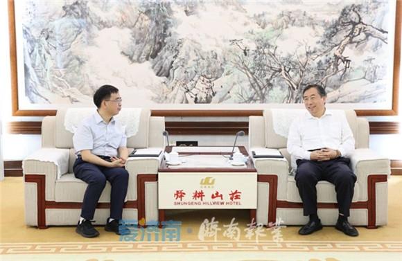 孙立成孙述涛会见中科院院士、中国科大常务副校长潘建伟