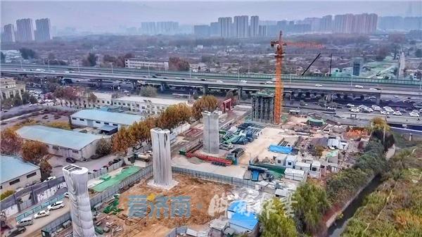 济南东站牵手胶济铁路 将上跨工业北路高架