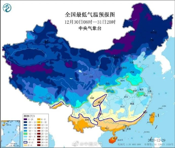 """""""霸王级""""寒潮实锤!跨年夜济南最低温仍不足-10℃ 元旦气温缓慢回升"""
