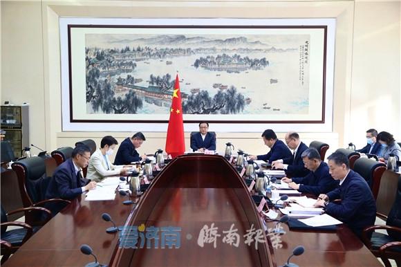 孙述涛主持召开市政府常务会议 研究法治政府建设等工作