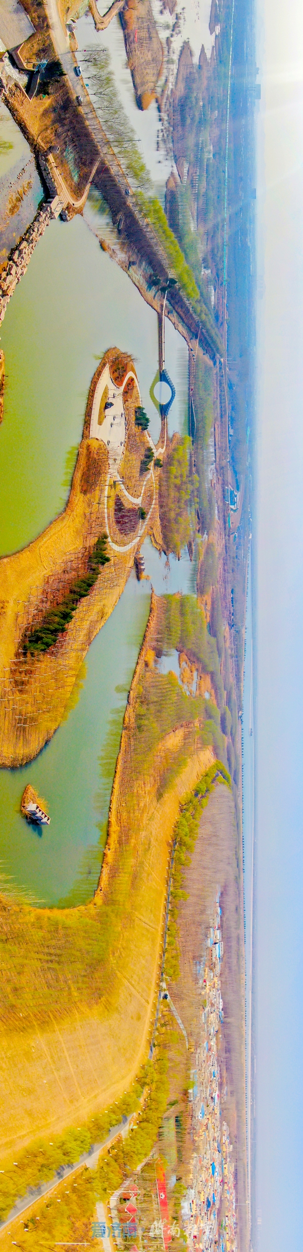 航拍+全景VR带你们走进小清河源头睦里闸
