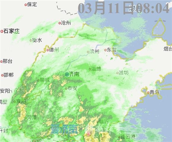 今晨济南部分地区已降雨 预计小雨持续到下午气温降至12 ℃